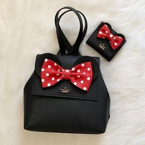 Kate spade Minnie Mouse backpack & wallet set